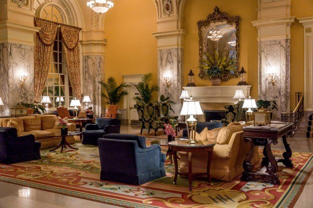 The lobby of the Hermitage Hotel Nashville.