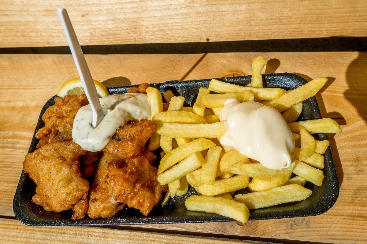 A popular Holland food, kibbeling is pieces of fried cod often served with tartar sauce