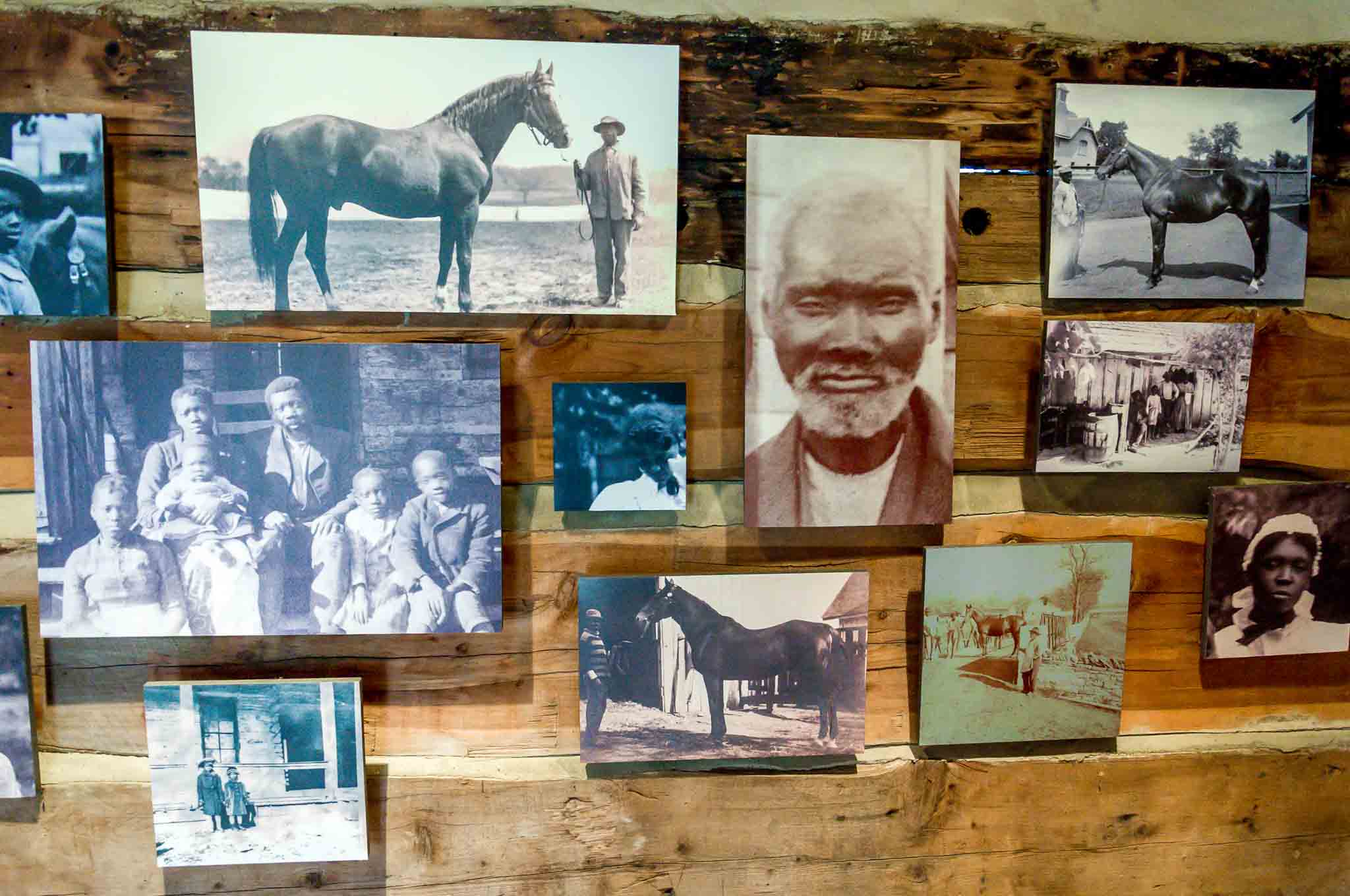 Photos of some of the slaves who lived and worked on the plantation