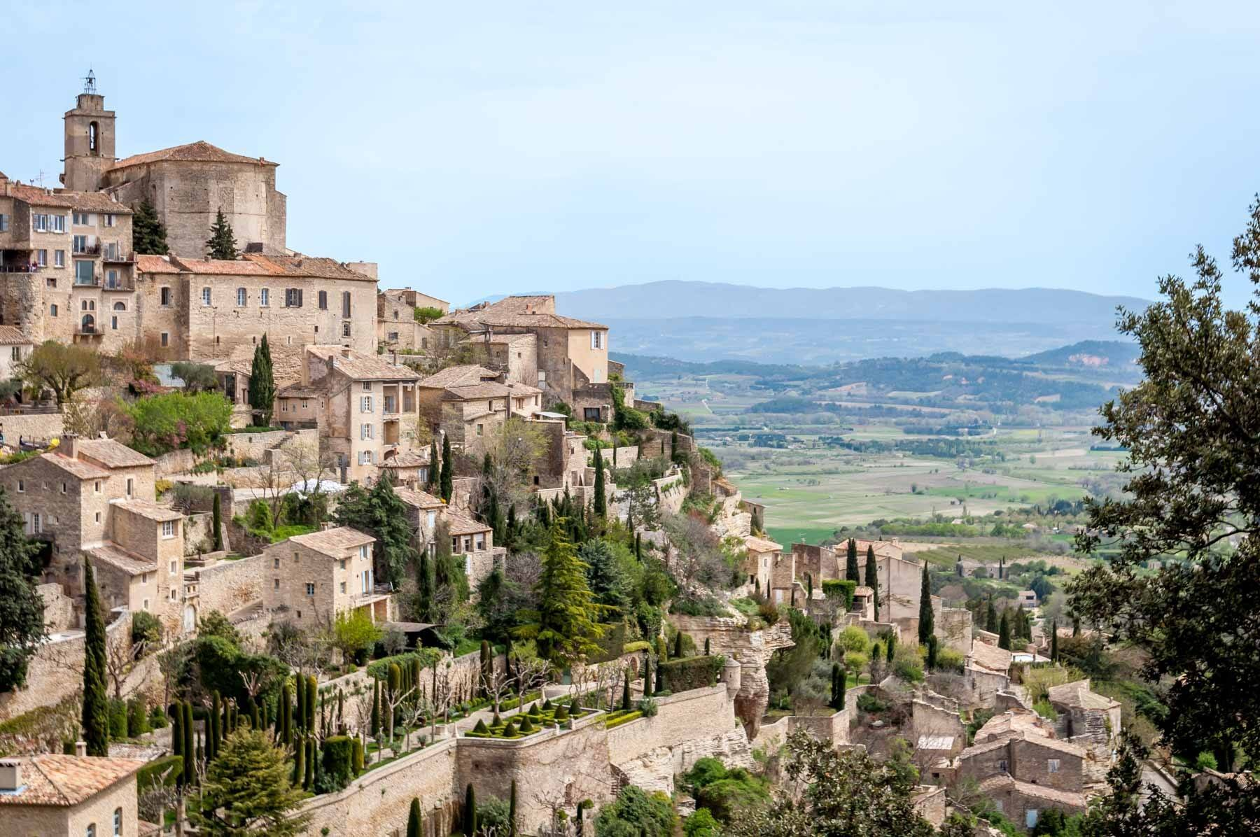 Gordes, France, a town built on a hillside, is a must-see spot on any South of France vacation