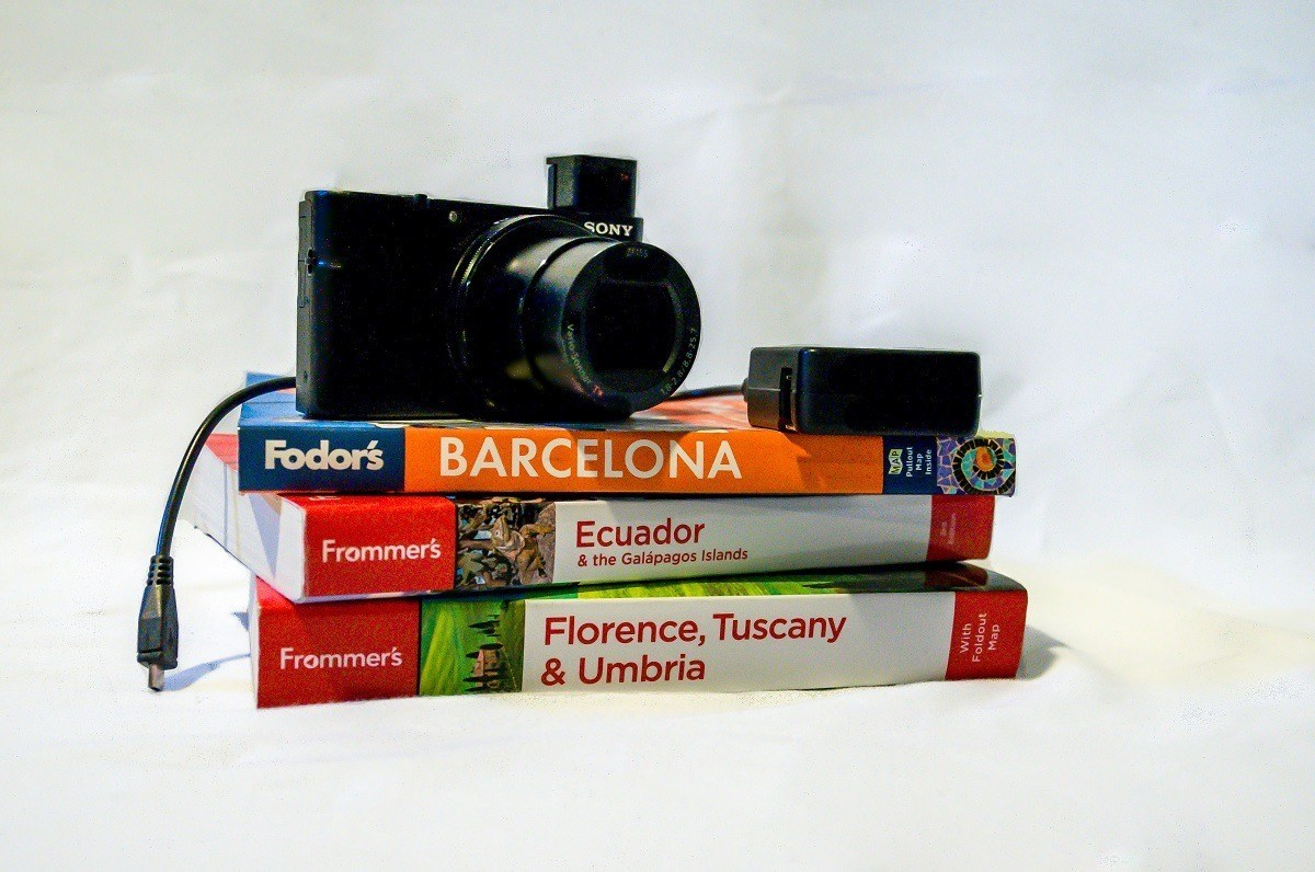 Camera and guide books