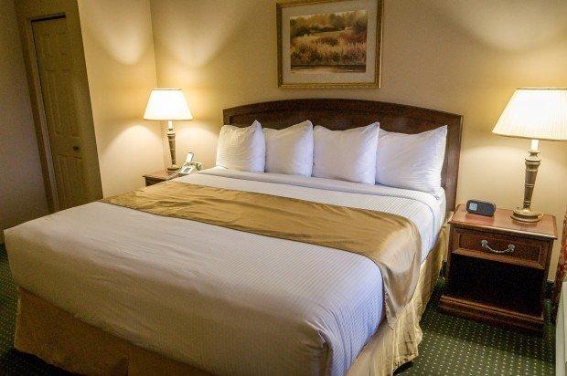 The comfortable bedroom at Split Resort.