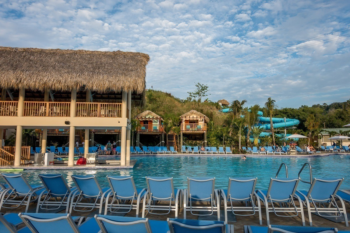 Relaxing poolside is one of the fun Amber Cove things to do