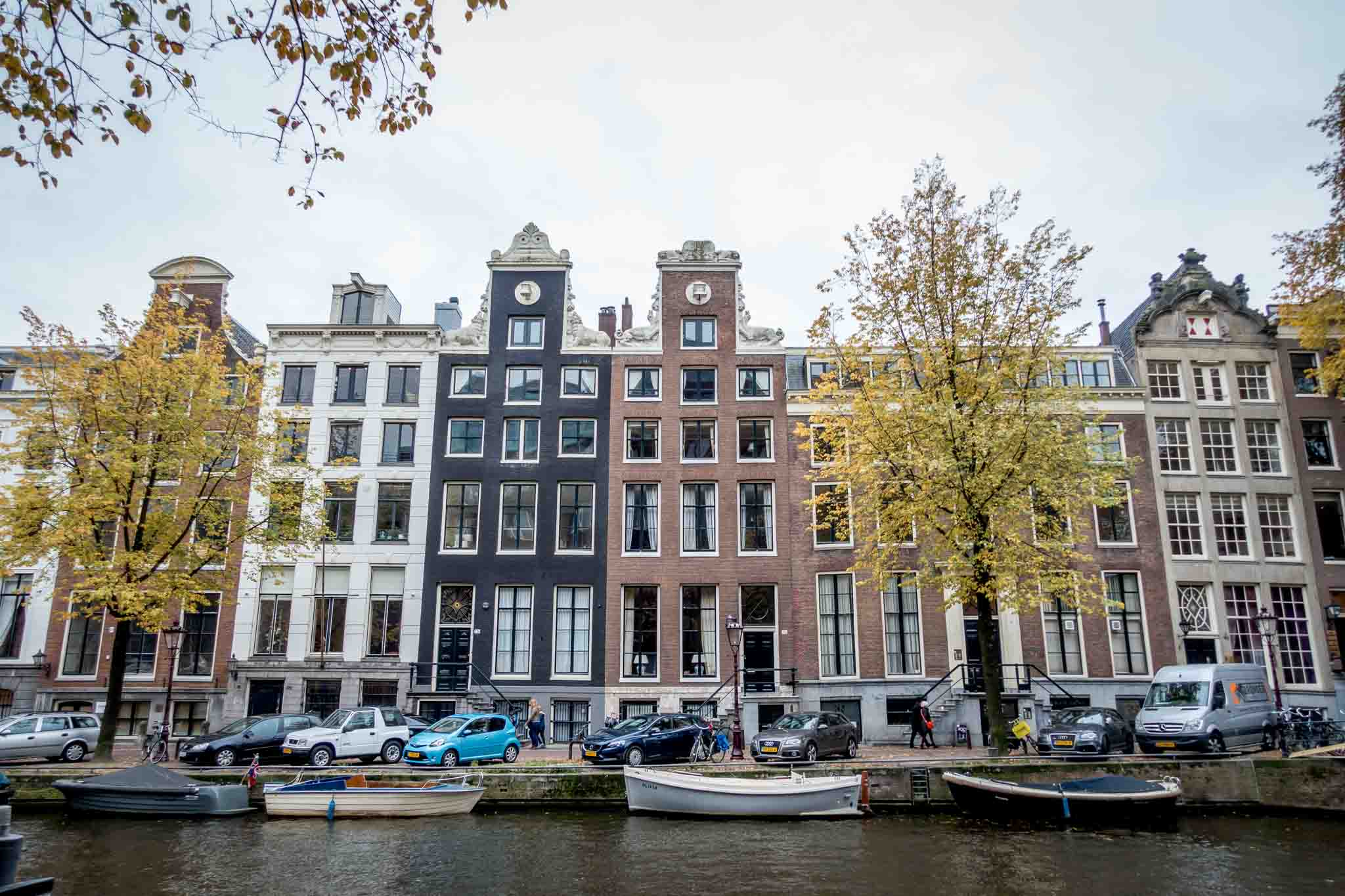 Some of the beautiful, historic canal houses. Just taking in the sights is one of the best free things to do in Amsterdam in a day