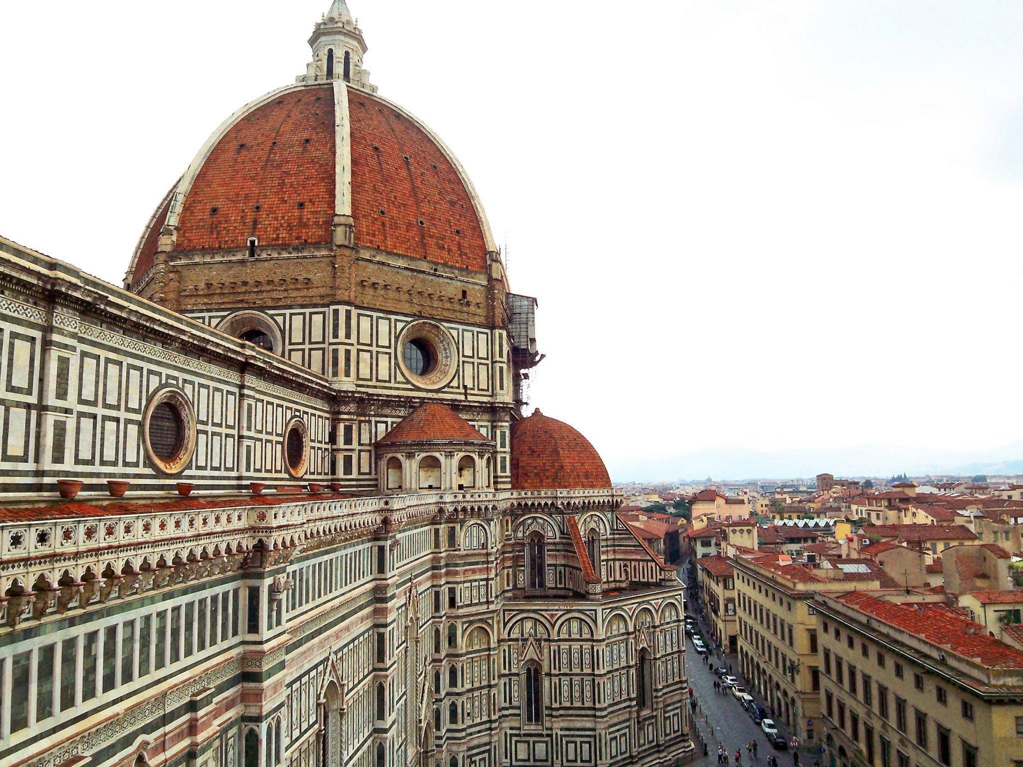 Colorful walls and dome of Santa Maria del Fiore in Florence, Italy