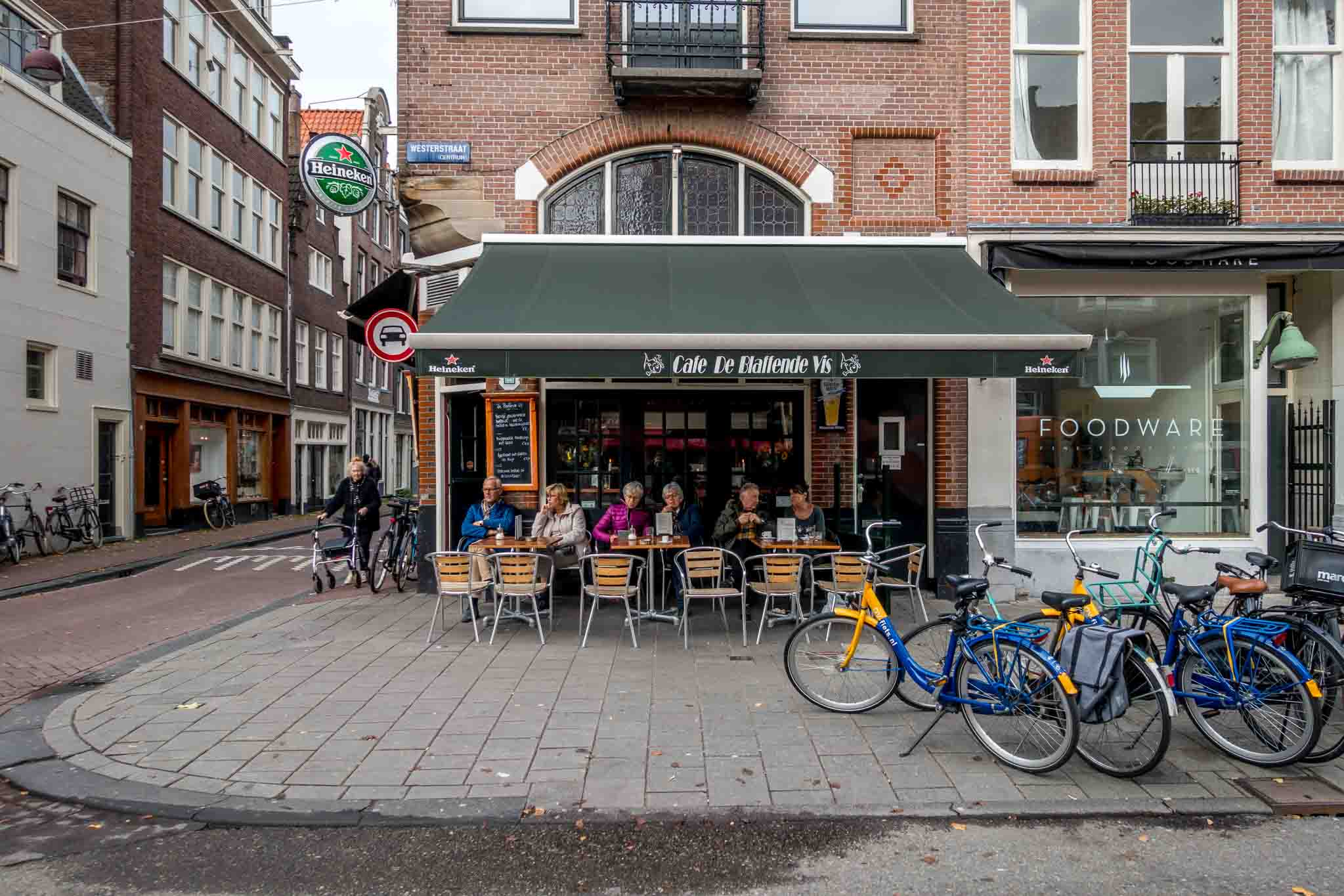 The Laughing Fish restaurant in the Jordaan neighborhood, one of the best places to go in Amsterdam