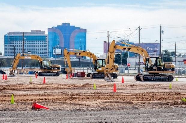 The excavators at Dig This in Las Vegas.
