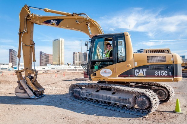 Experiencing the diesel-fueled rush at Dig This in Las Vegas.