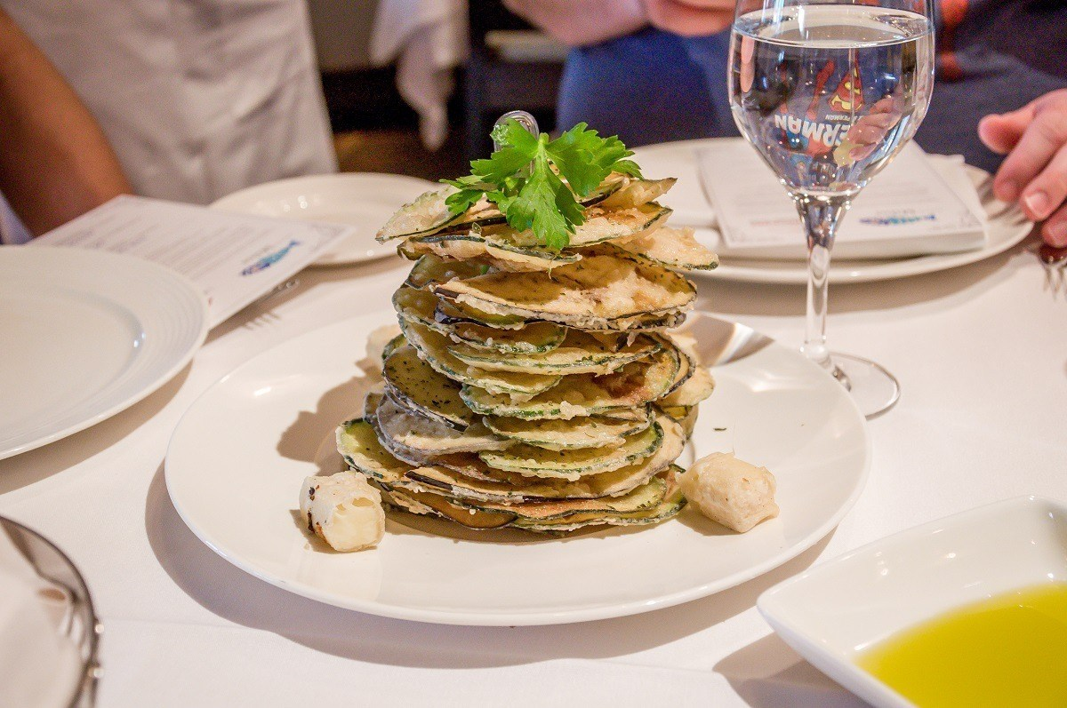 The windmill of zucchini and eggplant at Milos