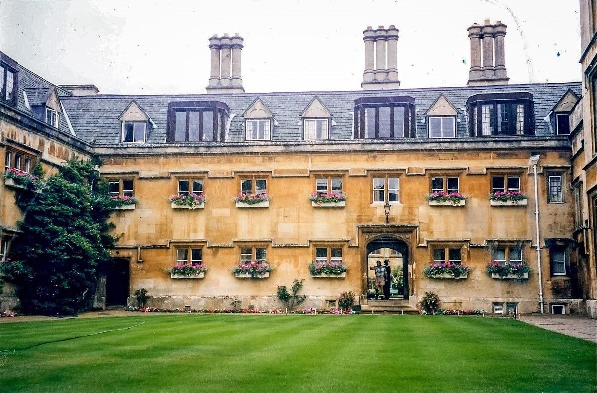 Quad anc building at Pembroke College of Oxford University