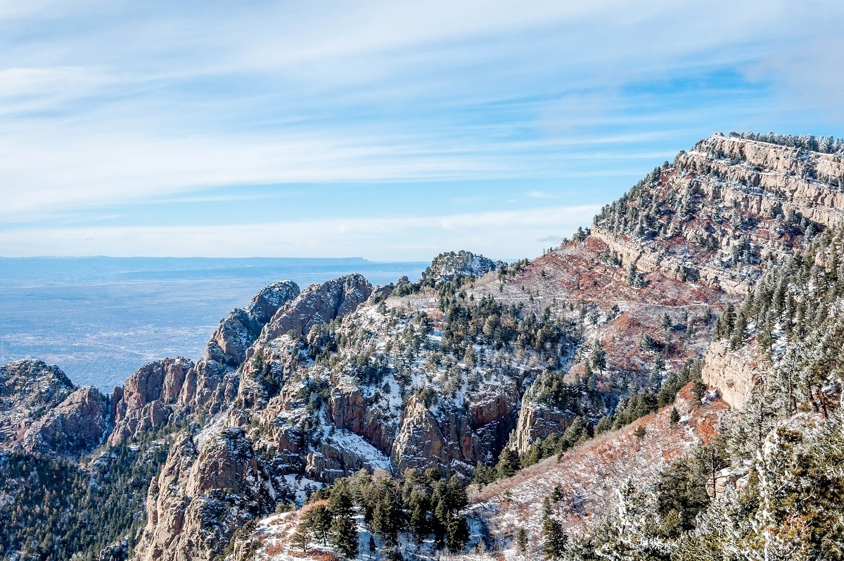 View from the top of Sandia Peak, one of the top things to do in Albuquerque