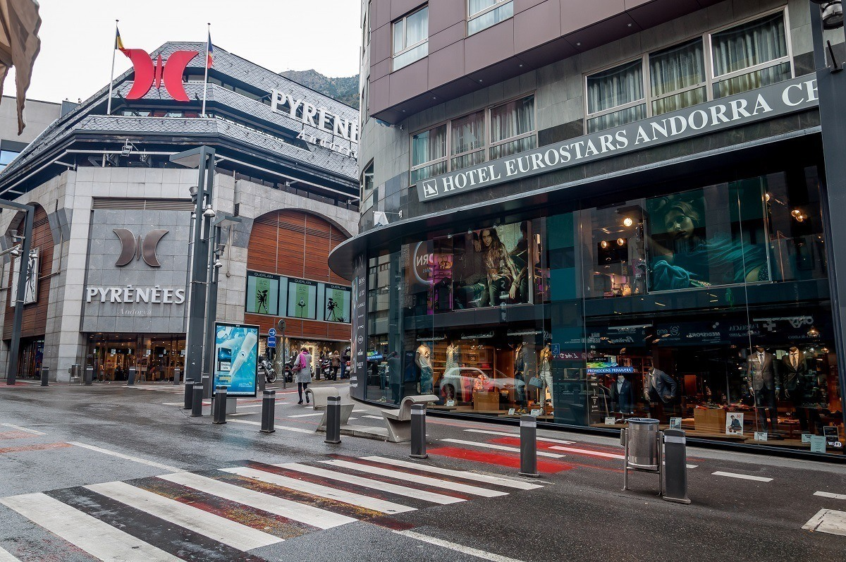 The duty free shopping in the local shops of Andorra la Vella