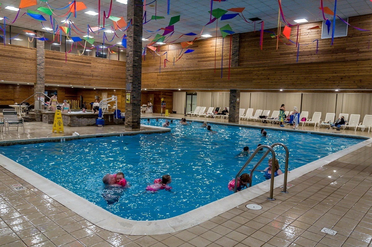 The Split Rock Resort indoor pool.