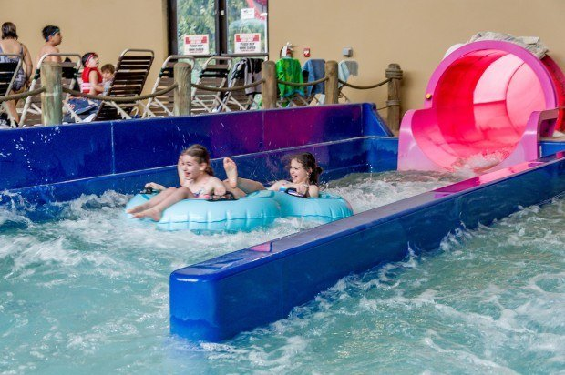 A key feature of the H2Oooohh!! Waterpark are the water slides.