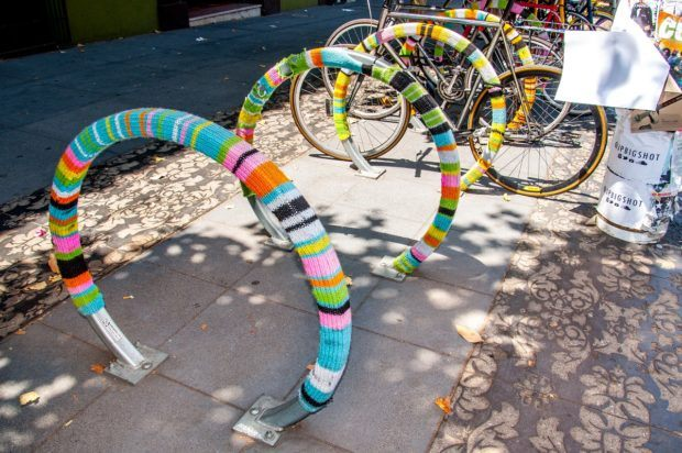 Decorated bike rack in the Mission San Francisco