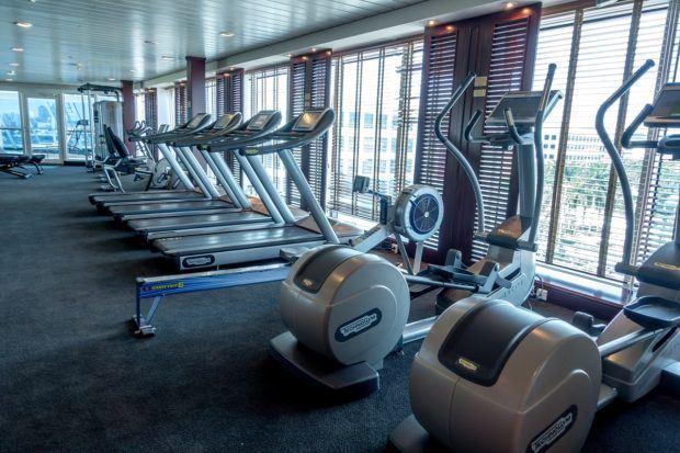 The gym aboard Fathom's Adonia