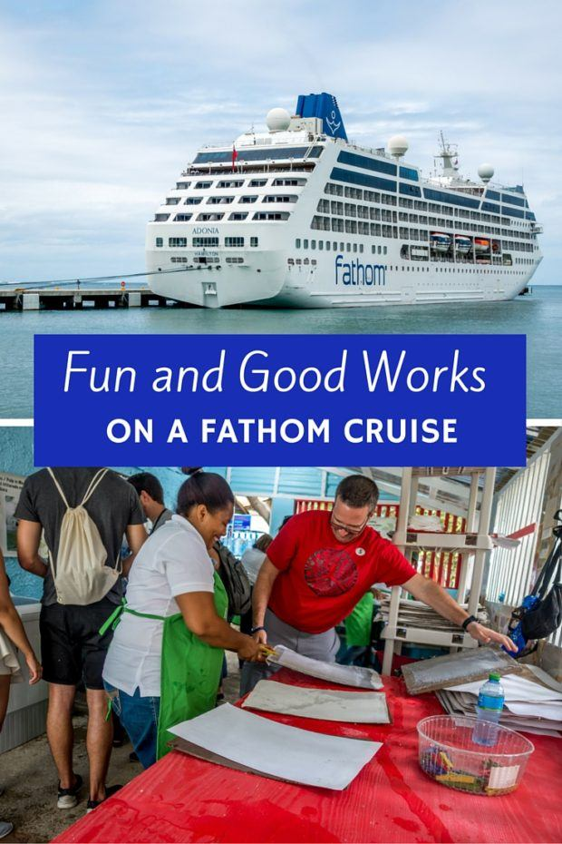 A Fathom cruise to the Dominican Republic is a very different kind of cruise. A trip on this ship lets you help others and have fun at the same time.