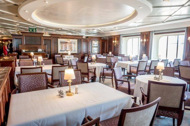 The Pacific Restaurant on Fathom's Adonia ship