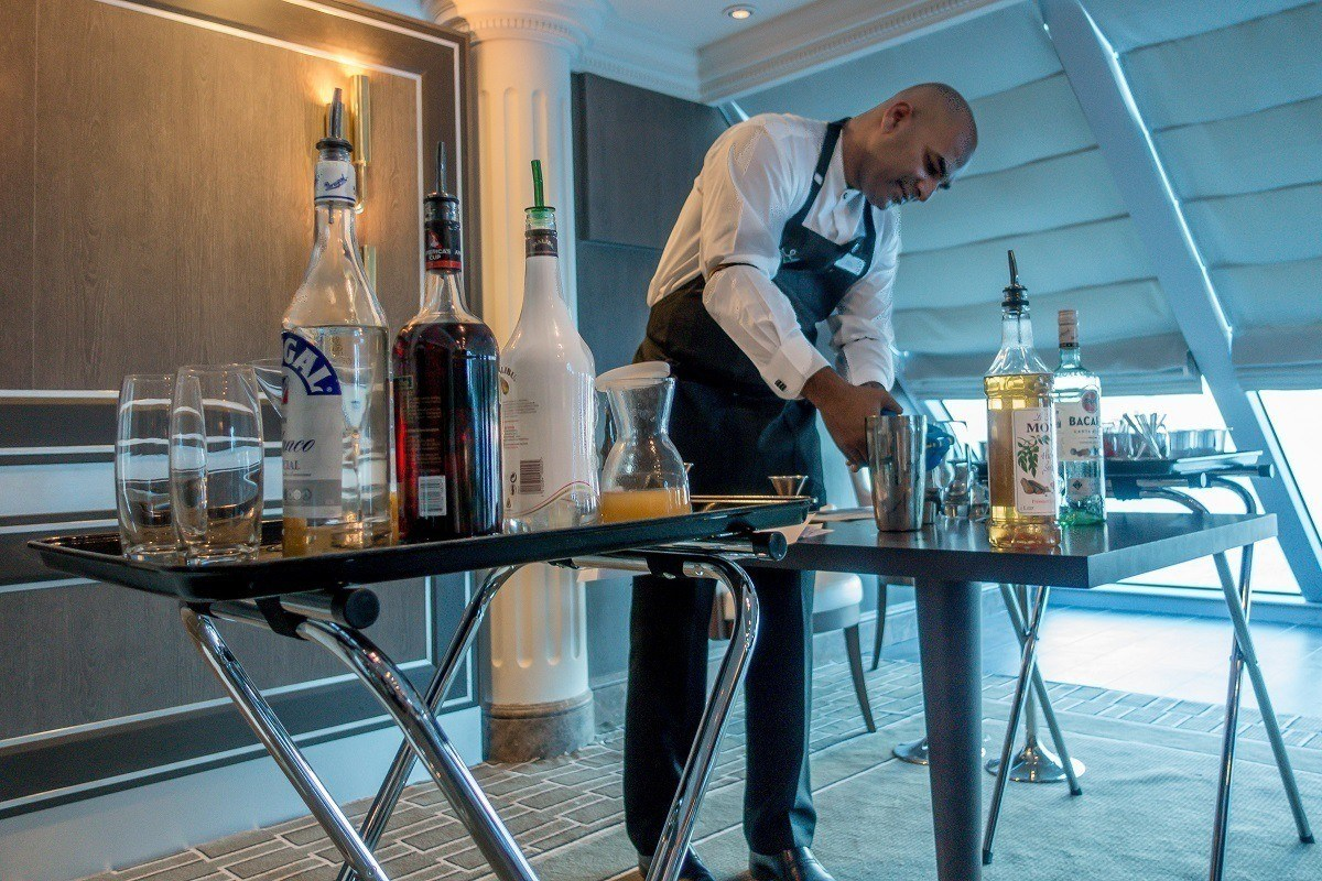 Cocktail class onboard the Adonia cruise ship