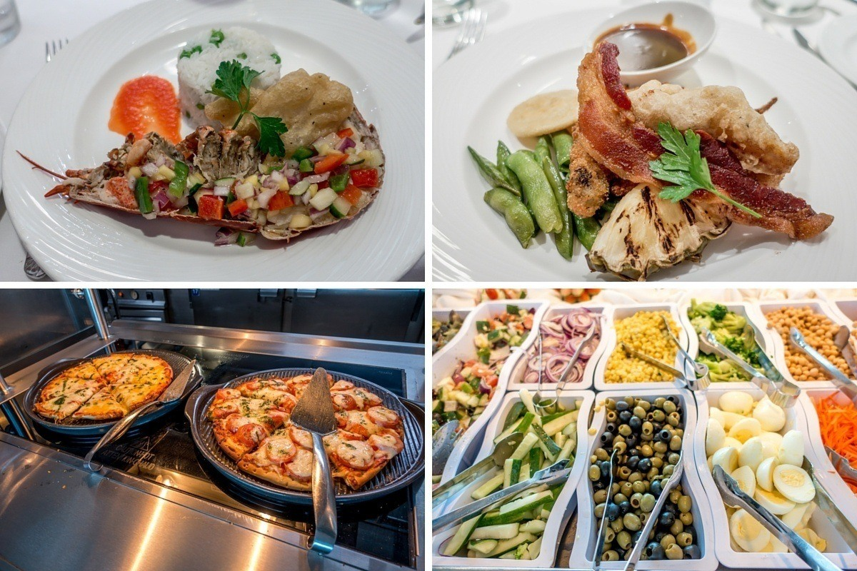 Some of the food on the Adonia cruise ship