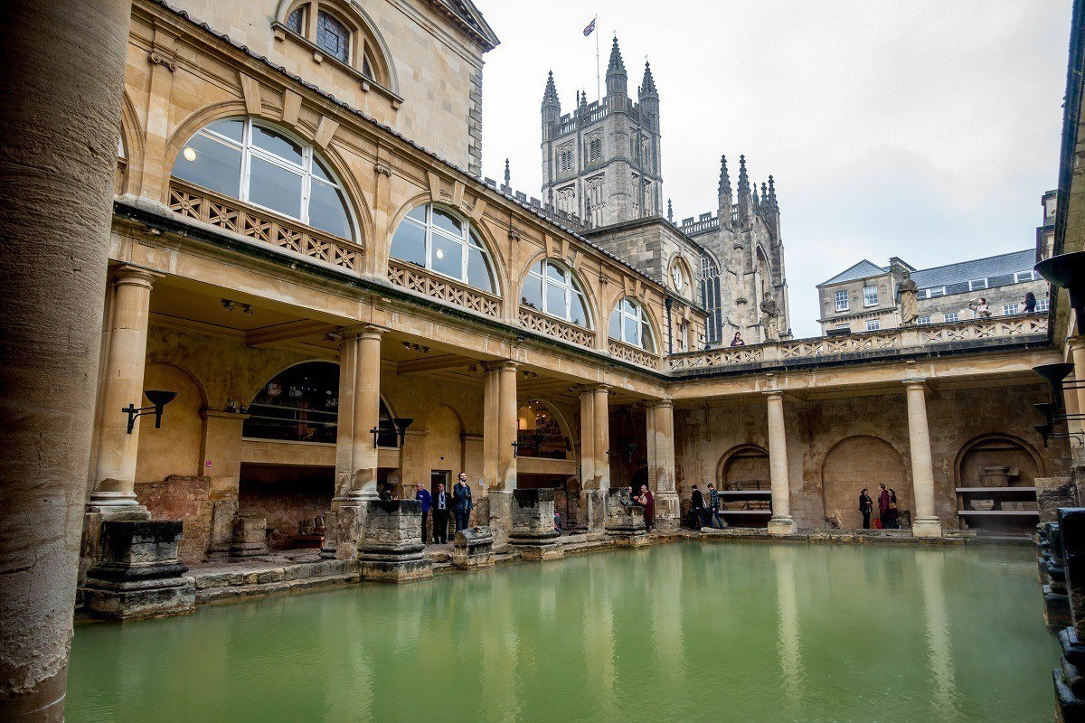 The Roman Baths in England, a UNESCO World Heritage Site.