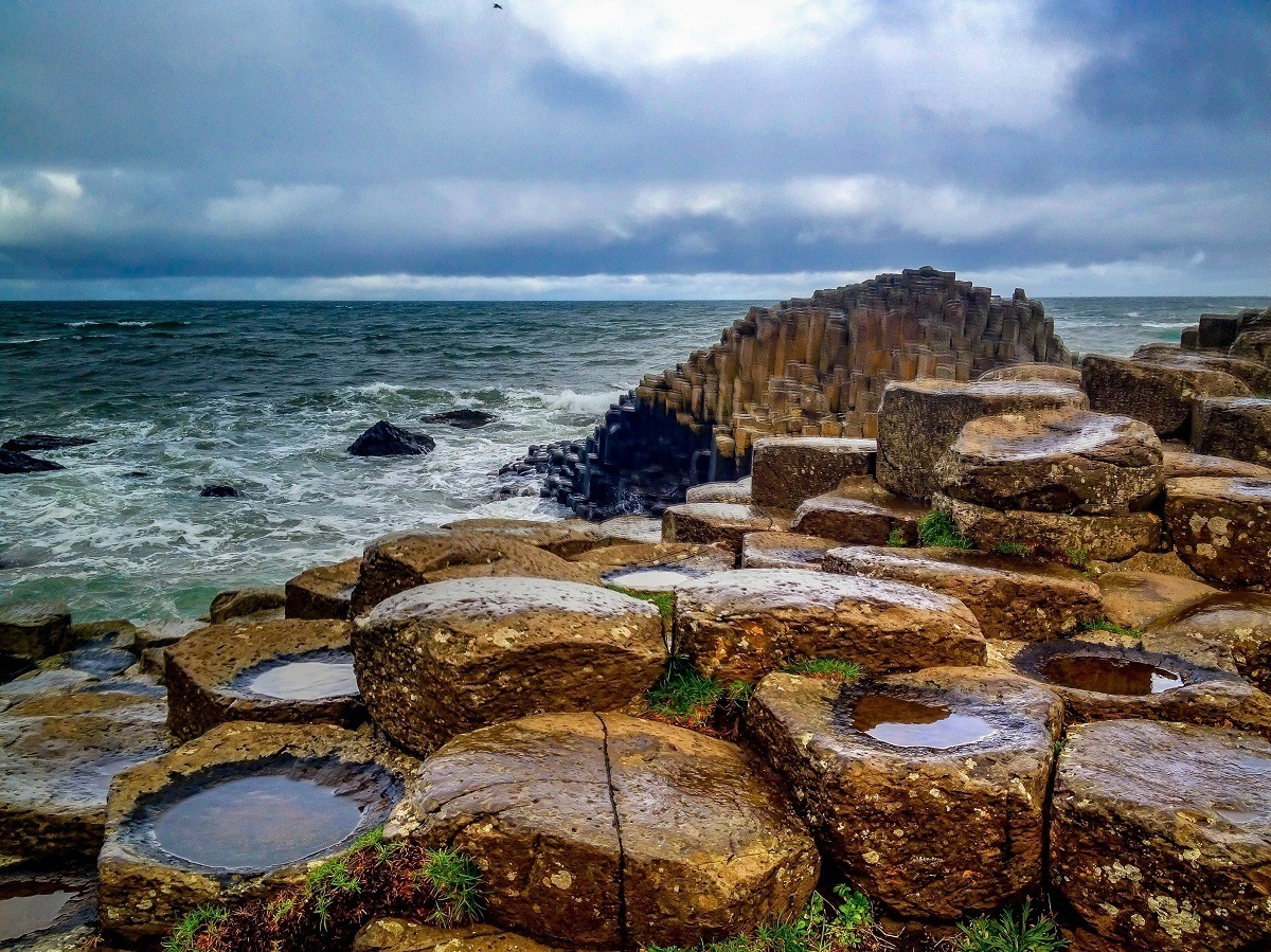 The Giant's Causeway on the coast of Northern Ireland, on our favorite Top 10 UNESCO World Heritage Sites.