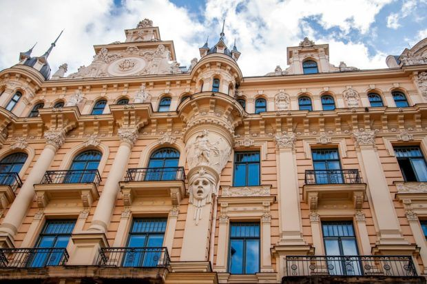 This historic center of Riga, Latvia is recognized as a top 10 UNESCO World Heritage Site for its art nouveau architecture.