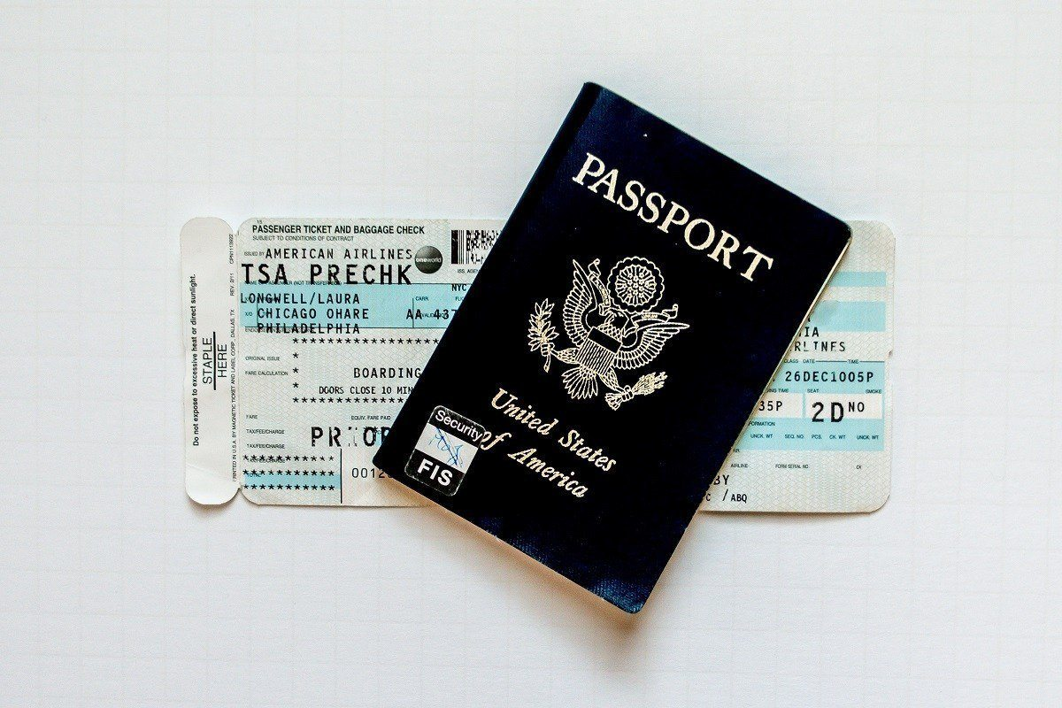Boarding pass and passport