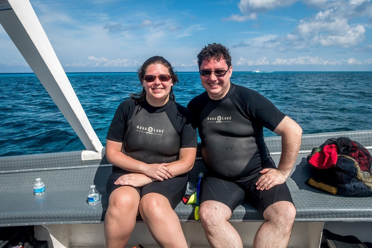 On the Dive with Martin boat in Cozumel.
