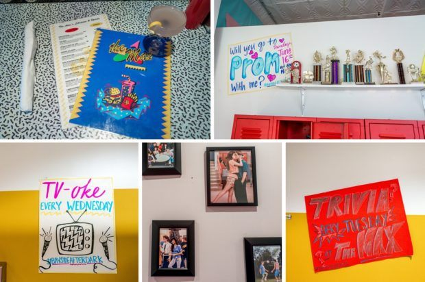 Some of the details from Saved by the Max, a pop-up restaurant in Chicago inspired by the 90s sitcom Saved by the Bell