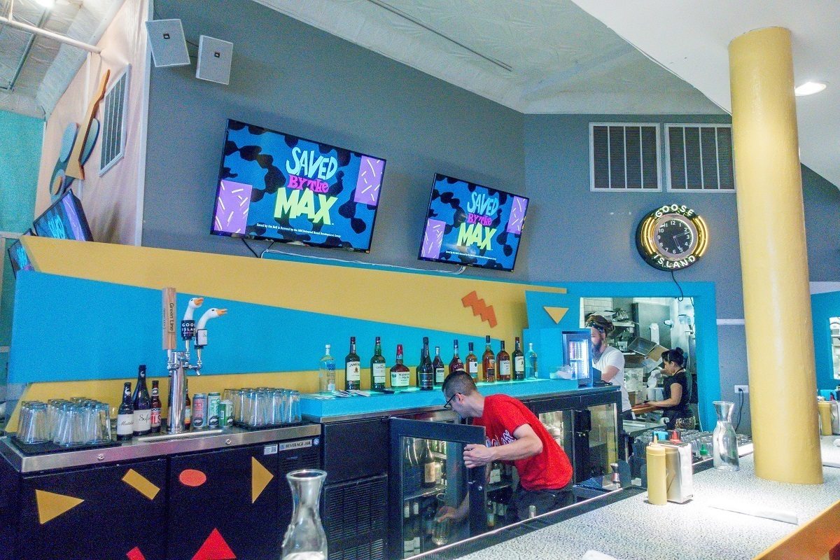 The bar at Saved by the Max