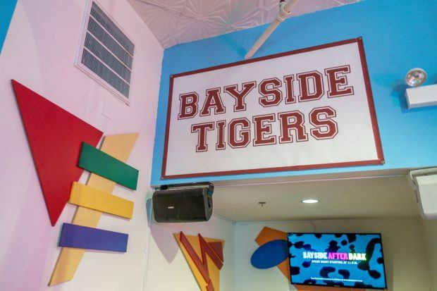 Saved by the Max is a new pop-up restaurant in Chicago inspired by the 90s sitcom Saved by the Bell. Its decor is based on Bayside High.