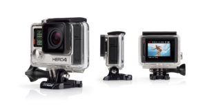 The GoPro Hero 4 action camera.