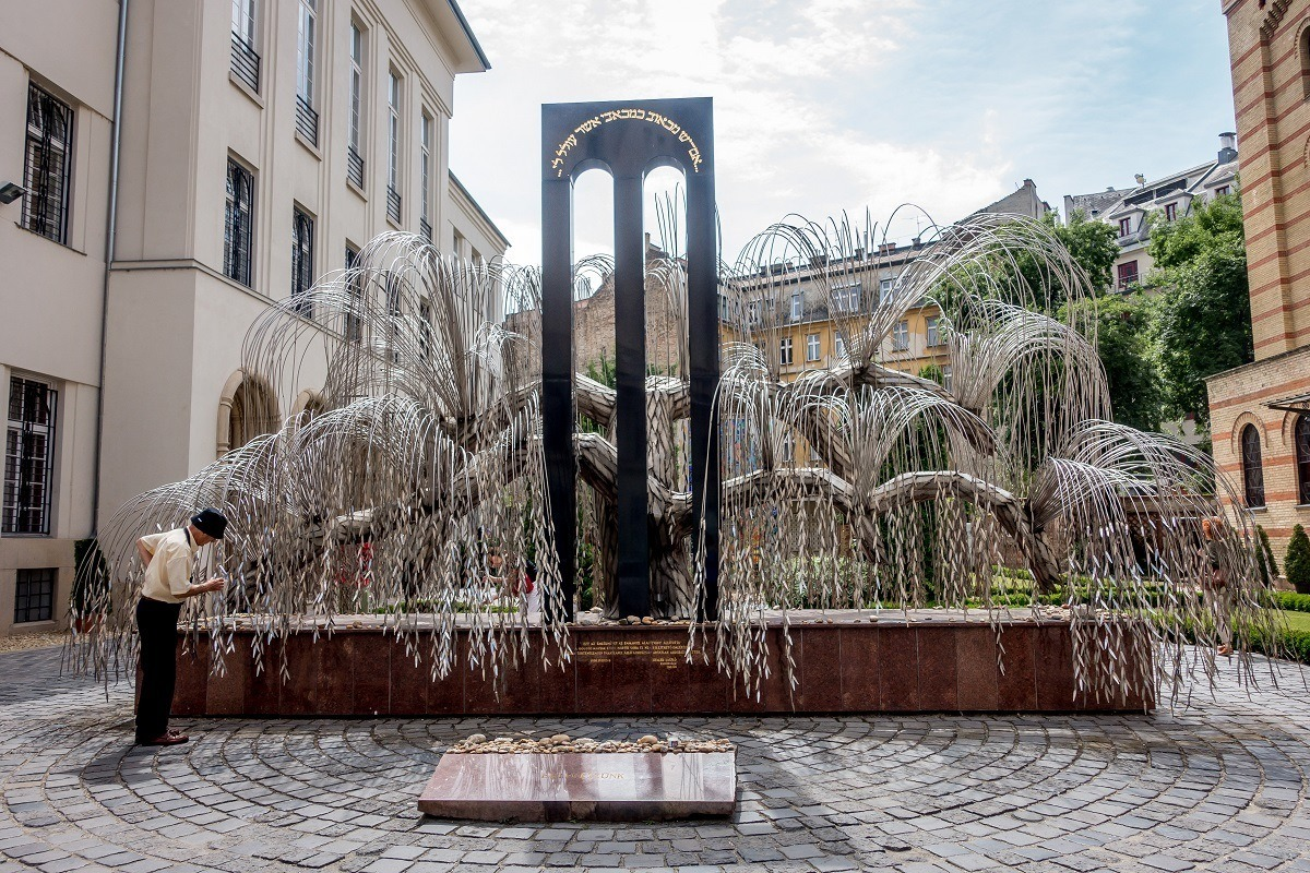 The Tree of Life in Budapest, Hungary, memorializes the hundreds of thousands who died in the Holocaust