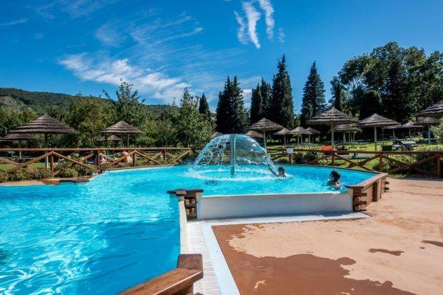 Many of the pools at Villaggio della Salute Piu have fountains
