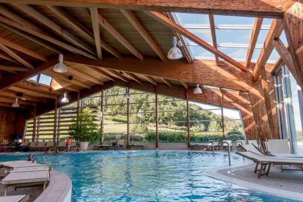 Inside the spa a Villaggio della Salute Piu near Bologna, Italy