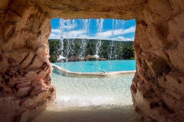 One of the lovely pools at Villaggio della Salute Piu outside Bologna, Italy