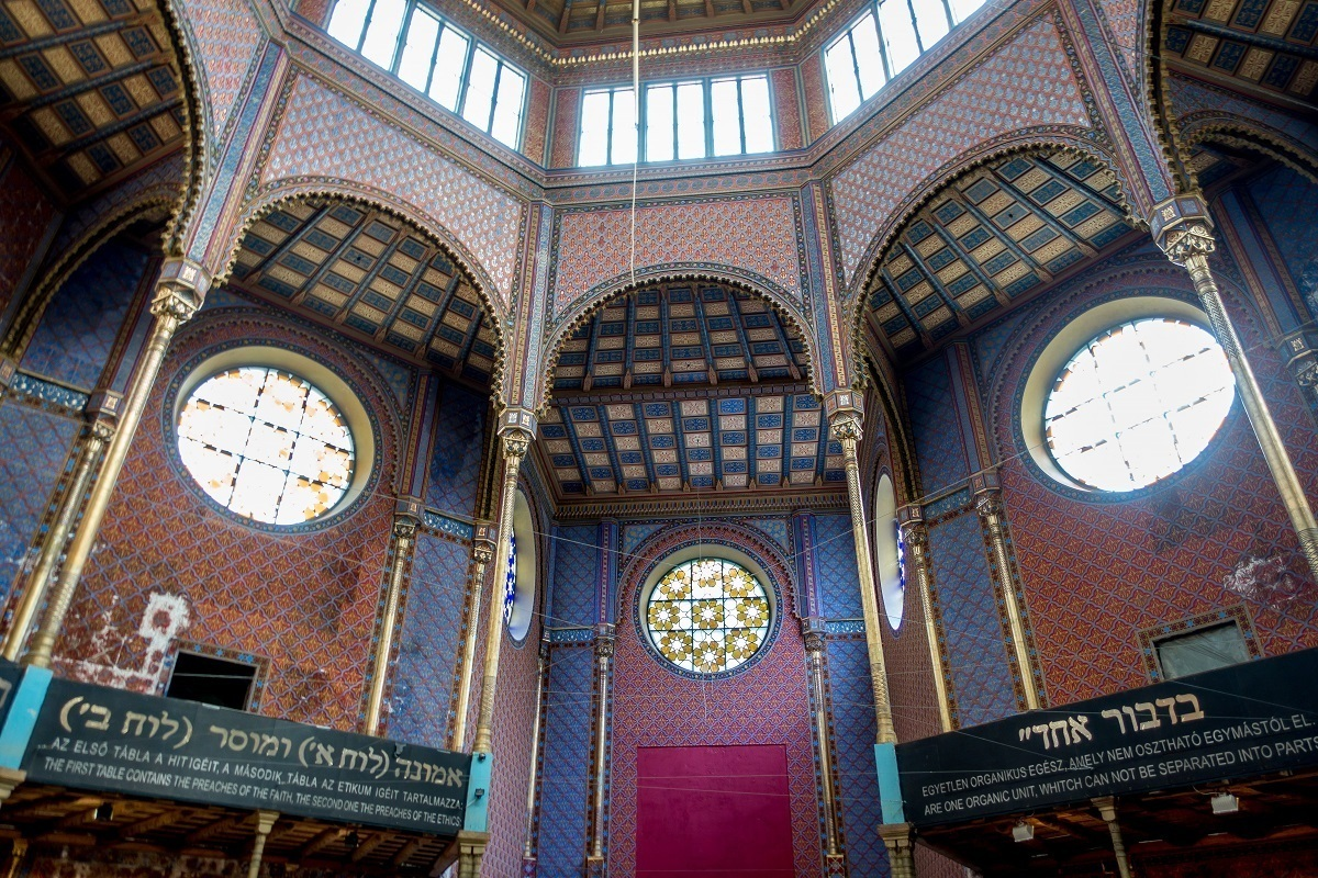 Parts of the Rumbach Street Synagogue in Budapest are being renovated after years of disrepair