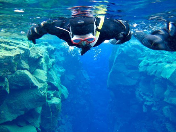 One of our great travel regrets was not scuba diving in Silfra, Iceland between the tectonic plates.