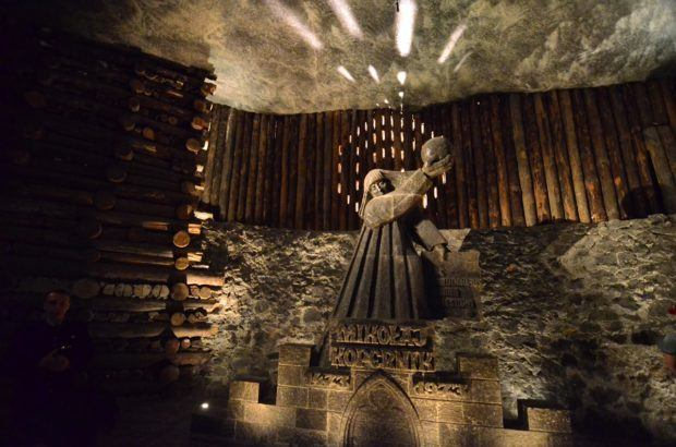 We regretted not being able to see the Wieliczka Salt Mine because Laura had sprained her ankle.