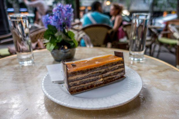 Opera cake is a traditional dessert in Budapest