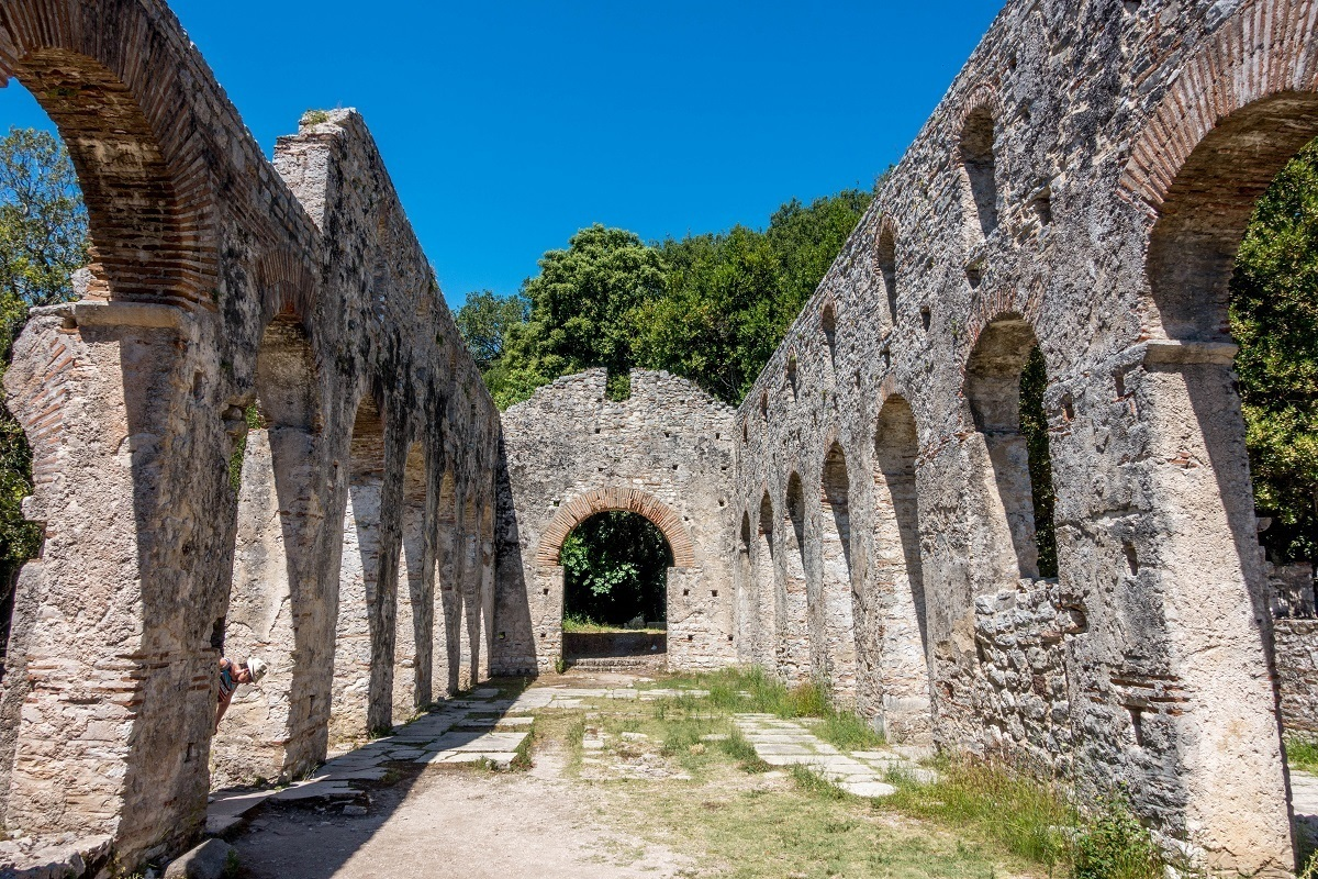 The early Christian basilica at Butrint. A visit to this UNESCO site is a must on any travel to Albania.