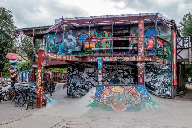 """The """"Wonderland"""" skate park in Copenhagen Freetown Christiania"""