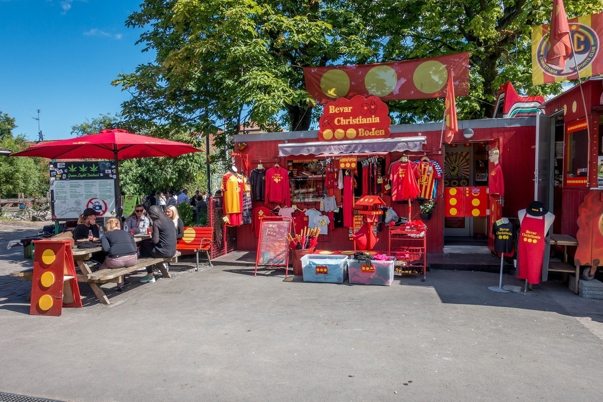 Gift shop for Freetown Christiania in Denmark