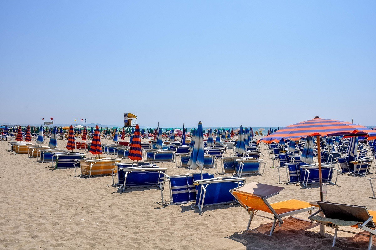 The beach is one of the most popular attractions in Durres, Albania