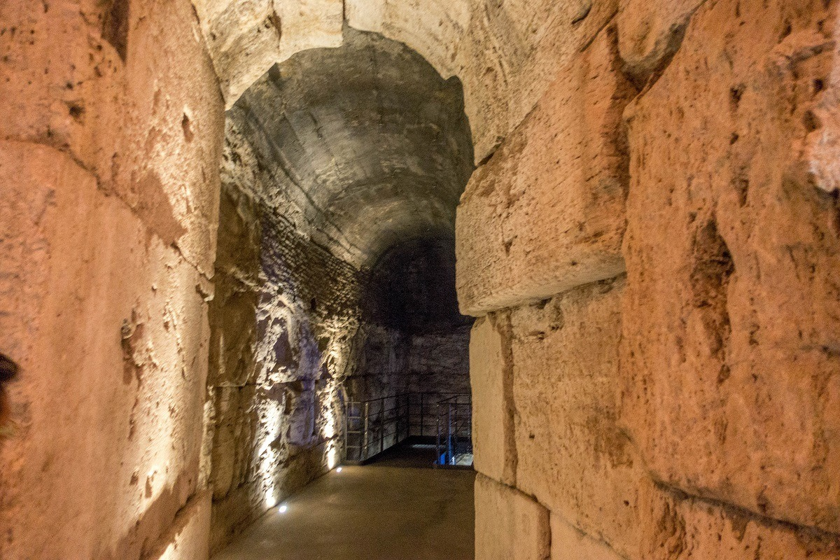 Passageway underneath the Colosseum
