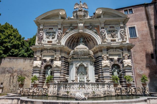 The Fountain of the Organ at Villa d'Este in Tivoli