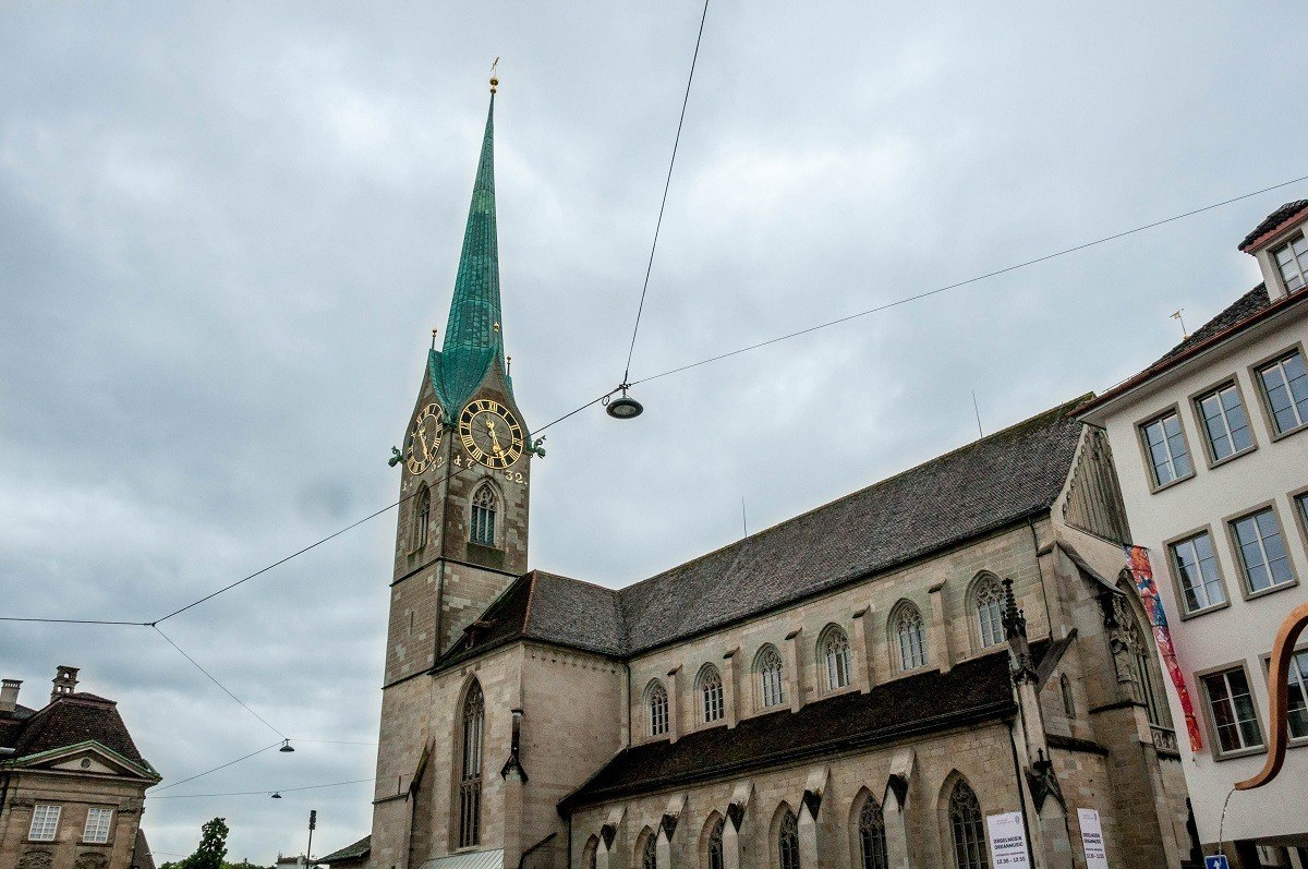 Fraumunster Church in Zurich, Switzerland