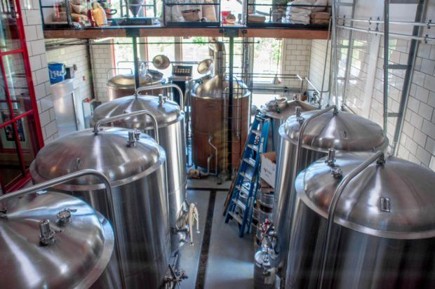 The craft brews at Happy Valley Brewing Company are made on-site in State College, Pennsylvania