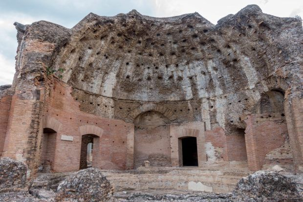 The Heliocaminus Baths are some of the most in-tact structures at Hadrian's Villa, a UNESCO World Heritage Site in Tivoli, Italy
